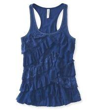NWT AEROPOSTALE Aero Womens Navy BLUE Lace Tank Top Shirt  XLarge XL $30