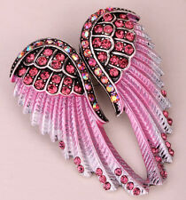 Angel wingS brooch pendant pin BD03 fashion jewelry silver pink gift for women