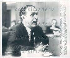1960 Cuba Intelligence Officer Salvador Diaz-Verson Testifies Press Photo