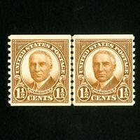 US Stamps # 686 Superb Line pair OG NH