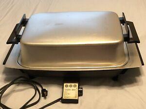 Vintage Lektro Miracle Maid West Bend 13669 Electric Skillet Countertop Cooker
