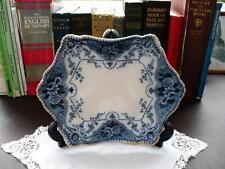 19th c Blue & White Platter - Ford & Sons Argyle, Burslem