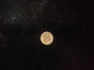 1945- M  Gold Dos Pesos Coin Mexico