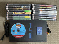 Sony Playstation 2 PS2 Fat Phat Black Console Bundle + Free Shipping (FOR PARTS)