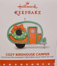 HALLMARK 2015 Cozy Birdhouse Camper Miniature ornament NEW