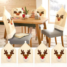 1PC Fashion Cloth Christmas Elk Chair Chair Cover Decoration Home Casual Supply