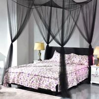 4 Corner Post Bed Canopy Mosquito Net Netting Bedding Lace Full/Queen/King Bed