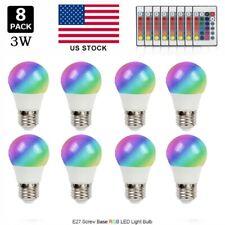 US E27 3W 16 Color Changing RGB LED Light Bulb Lamp+IR Remote Control 85V-265V