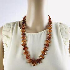 Amber Necklace Russian Genuine Baltic Orange Amber RARE