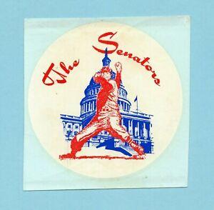 Late 1960's Era Washington Senators Decal