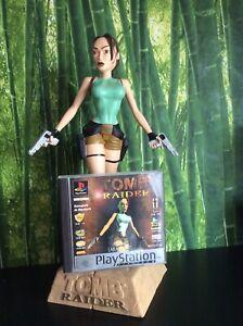 Tomb Raider (Sony PlayStation 1, 1996) + Lara Croft Statue