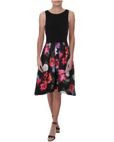 XSCAPE Women Sleeveless Floral Fit Flare Party A Line Dress - Size 12 MSRP $239