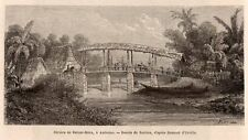 IMAGE 1872 PRINT INDONESIE INDONESIA AMBOINE AMBON RIVIERE DE BATOU MERA RIVER