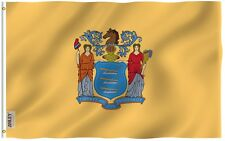 Anley Fly Breeze 3x5 Foot New Jersey State Flag, New Jersey NJ Flags Polyester