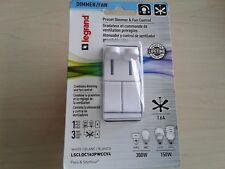 Legrand Preset Dimmer & Fan Control 1 Pole 3 ways White *Brand New*