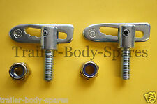 Free UK Post - 2 de M12 X 35 mm Antiluce Remolque Gota sujetadores de captura