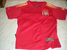 A Short Sleeved Young Childs Spanish Shirt -Number 7, RAUL -Gold Football