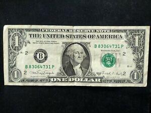 États-Unis billet 1 dollar 1988