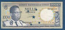 1000 Francs 1964. MILLE FRANCS, BANQUE NATIONALE DU CONGO !