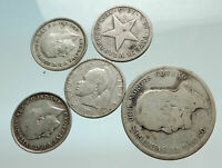 GROUP LOT of 5 Old SILVER Europe or Other WORLD Coins for your COLLECTION i75639