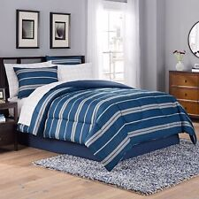 Taylor 6-Piece Twin Comforter Set in Blue/Grey