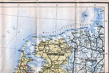 Amsterdam Haarlem Den-Helder 1914 Teil-Kriegskarte Groningen Leeuwarden Ymuiden