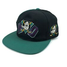 Vintage Mighty Ducks Snapback Hat NHL Anaheim Embroidered Center Ice Collection