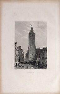1885 PRINT SEVILLE ~ THE GIRALDA