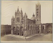 Sienne Siena Italie Italia Photo Alinari Vintage albumine c 1880