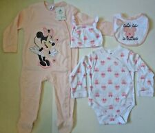 Girls Disney Minnie Mouse 4 piece Long Sleeve Sleep Set~Age 9-12 months~NEW