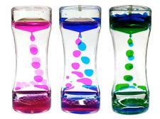 Sensory Liquid 3 Timer Set Adhd Visual Motion Calming Asd Toy Timers Bubbles New