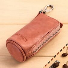 Men's Leather Key Holder Wallet Key Ring Coin Purse Women's Keychain Pouch Bag