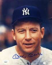 Mickey Mantle Jsa Coa Autographed Hand Signed 8X10 Yankees Photo