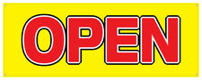 Open Banner Grand Opening New Business Shop Retail Sign 36x96