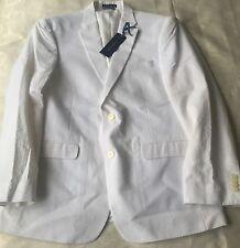 NWT Tommy Hilfiger Trim-Fit White Seersucker Sport Coat