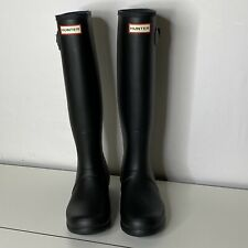 US 8 EUR 39 HUNTER Original Tall Matte Rubber Rain Wellies Boots Black