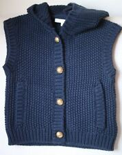 CHLOE GIRLS NAVY WOOL BLEND KNIT GILET CARDIGAN 3 YEARS