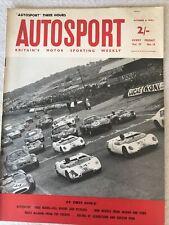 Autosport Magazine 4 October 1963 Jim Clark Lotus 23b Wins Snetterton 3hrs