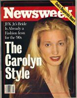 CAROLYN BESSETTE JOHN F KENNEDY JR Newsweek Magazine 10/21/96 STYLE NO LABEL