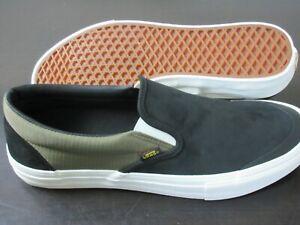 Vans Mens Slip On Pro Surplus Black Military Green Suede Nylon shoes Size 13 NIB