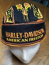 Harley Davidson* AMERICAN FREEDOM* Doo or Du-Rag/Biker  Cap OSFA VGC