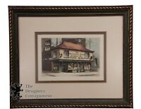The Old Curiosity Shop Immortalized by Charles Dickens Vintage Print Colored Art