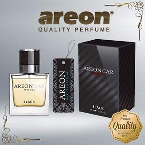 Areon Luxury Car Perfume Long Lasting Air Freshener TOP QUALITY - BLACK 50ml NEW