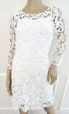 Nwt Lauren Ralph Lauren Crocheted Lace Cocktail Sheath Dress Sz PL Petite White