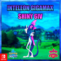 Inteleon Shiny Gigamax 6 iv Pokemon Espada/Escudo 🚀 HABILIDAD OCULTA 🚀