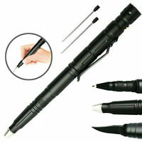 Tactical Pen Emergency Steel Knife Glass Breaker Survival LED Flashlight