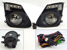 Toyota Corolla 11-13 LED JDM Front Bumper Fog Lights Lamps w/ Switch - Clear