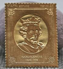 1977 Staffa Scotland £8 Commemorative Gold Stamp For King Hardicanute 1040-1042