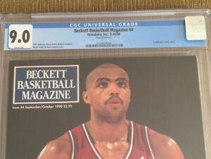 Charles Barkley 1990 Beckett Basketball #4 Magazine CGC 9.0 MINT