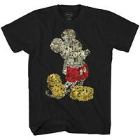 Disney Mickey Mouse Collage World Tee Funny Humor Adult Men's Graphic T-shirt